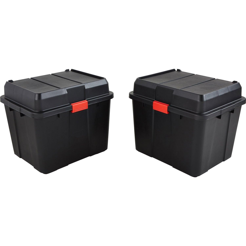 Boite de rangement - Boite plastique, pin, carton   Leroy Merlin