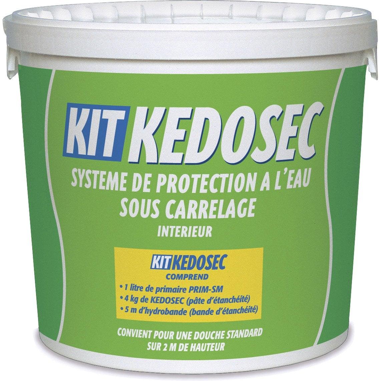Kit douche semin kedosec 5 kg blanc leroy merlin - Kit etancheite sous carrelage ...