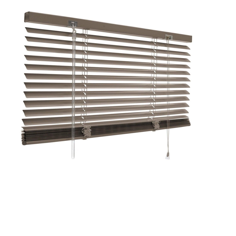 Store v nitien aluminium brun taupe n 3 x cm - Rideau venitien leroy merlin ...