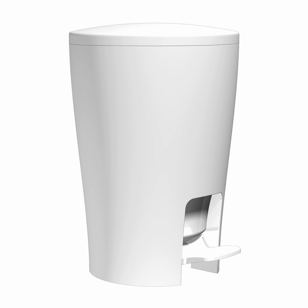 Poubelle de salle de bains 5L Diabolo blanc  Leroy Merlin