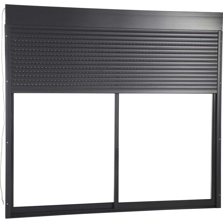 volet roulant motoris radio en aluminium haut 215 x larg. Black Bedroom Furniture Sets. Home Design Ideas