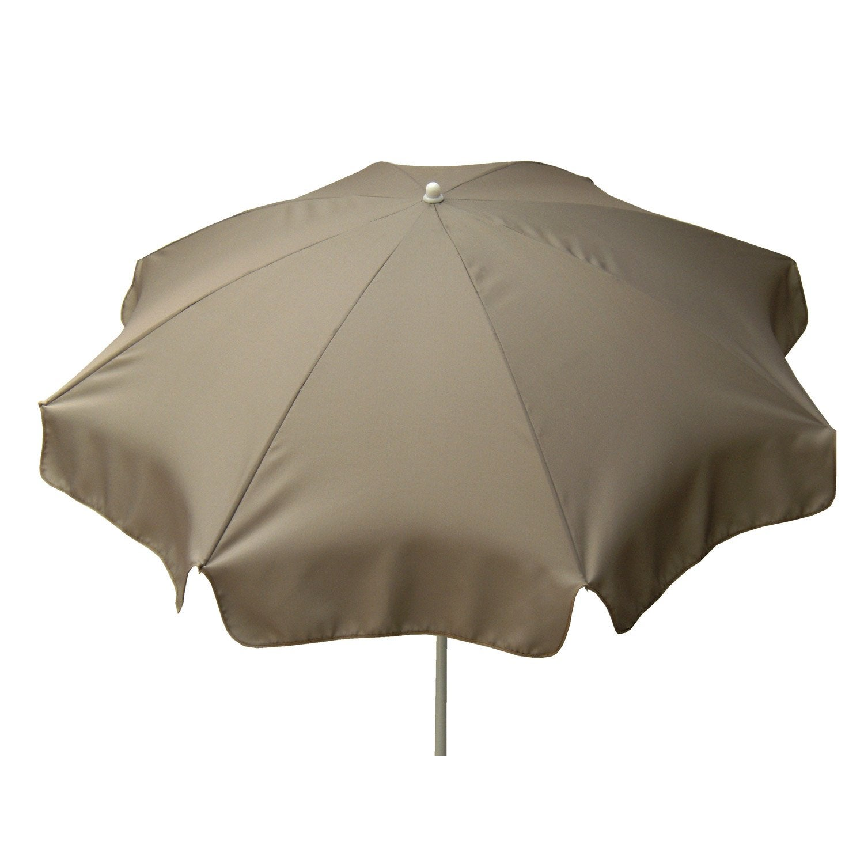 Parasol droit lola gris dor rond x cm leroy merlin - Rode leroy merlin parasol ...