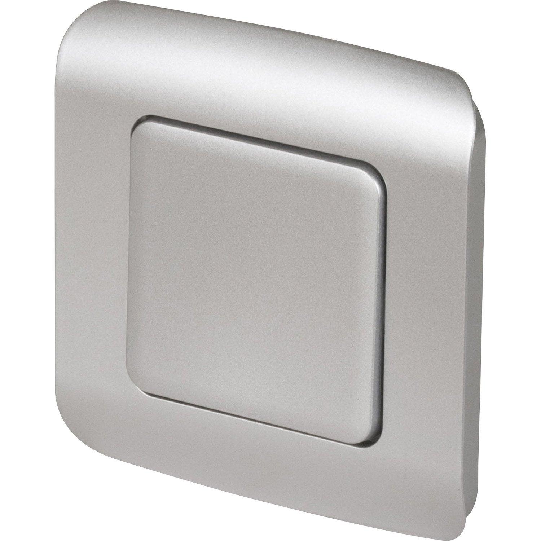 Interrupteur va et vient cosy gris aluminium lexman for Va et vient a 3 interrupteurs