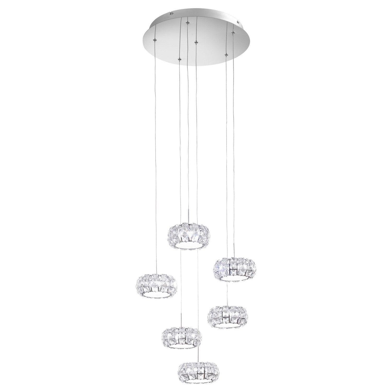 suspension led int gr e design corliano m tal transparent 4 x 5 w eglo leroy merlin. Black Bedroom Furniture Sets. Home Design Ideas