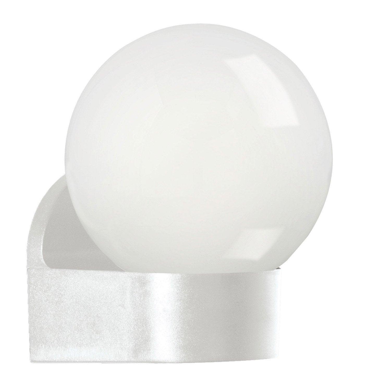 Applique ext rieure lorme e27 25 w blanc eglo leroy merlin for Appliques exterieures