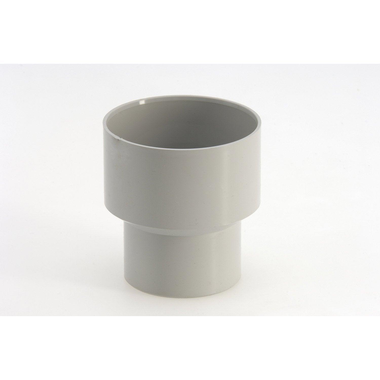 r duction pluviale femelle m le diam 100 80 en pvc gris leroy merlin. Black Bedroom Furniture Sets. Home Design Ideas