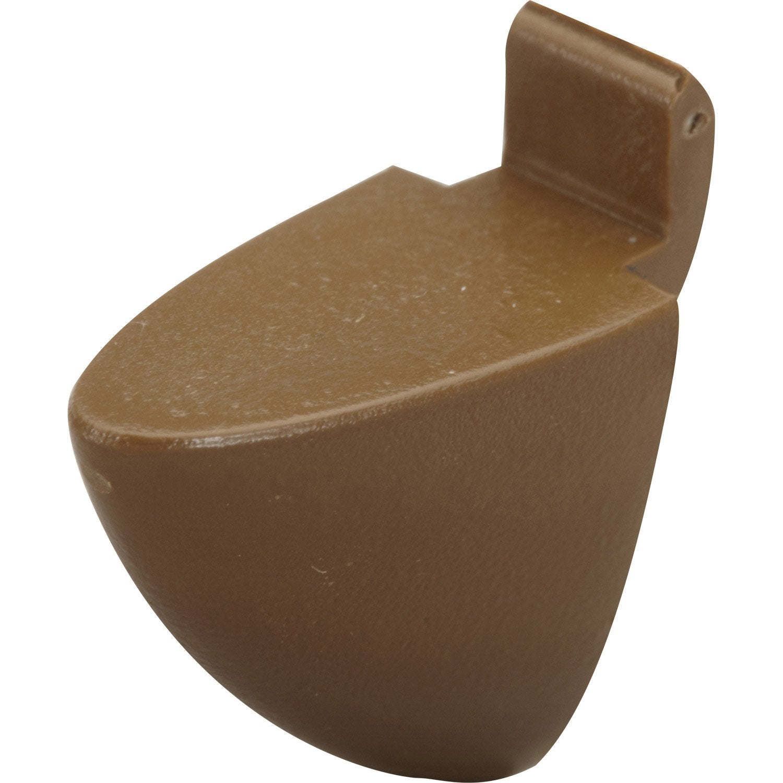 lot de 8 taquets pour cr maill re plastique brun leroy merlin. Black Bedroom Furniture Sets. Home Design Ideas