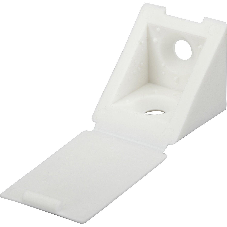 lot de 4 taquets visser plastique blanc leroy merlin. Black Bedroom Furniture Sets. Home Design Ideas