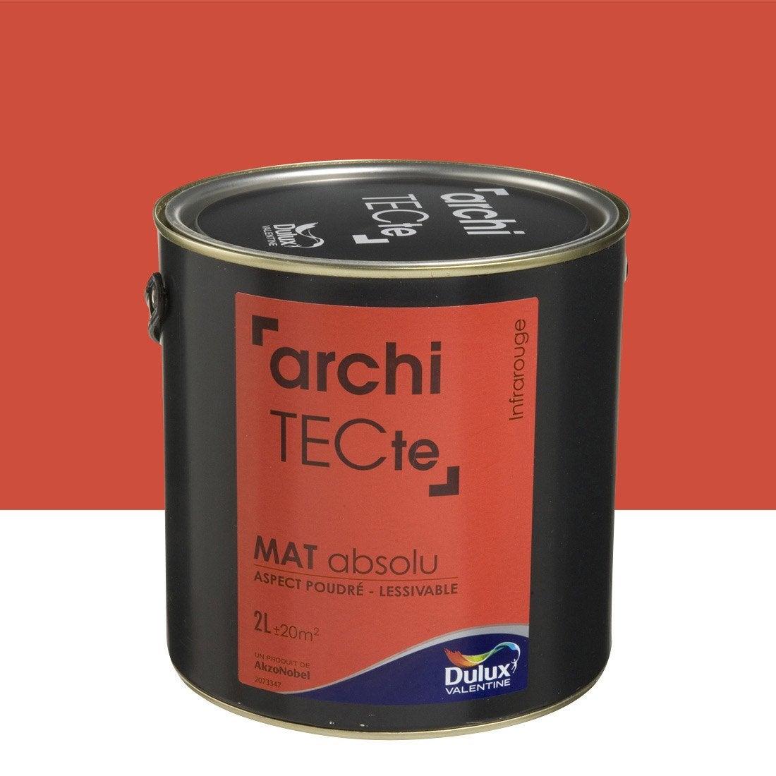 peinture boiserie architecte dulux valentine rouge infrarouge 2 l leroy merlin. Black Bedroom Furniture Sets. Home Design Ideas
