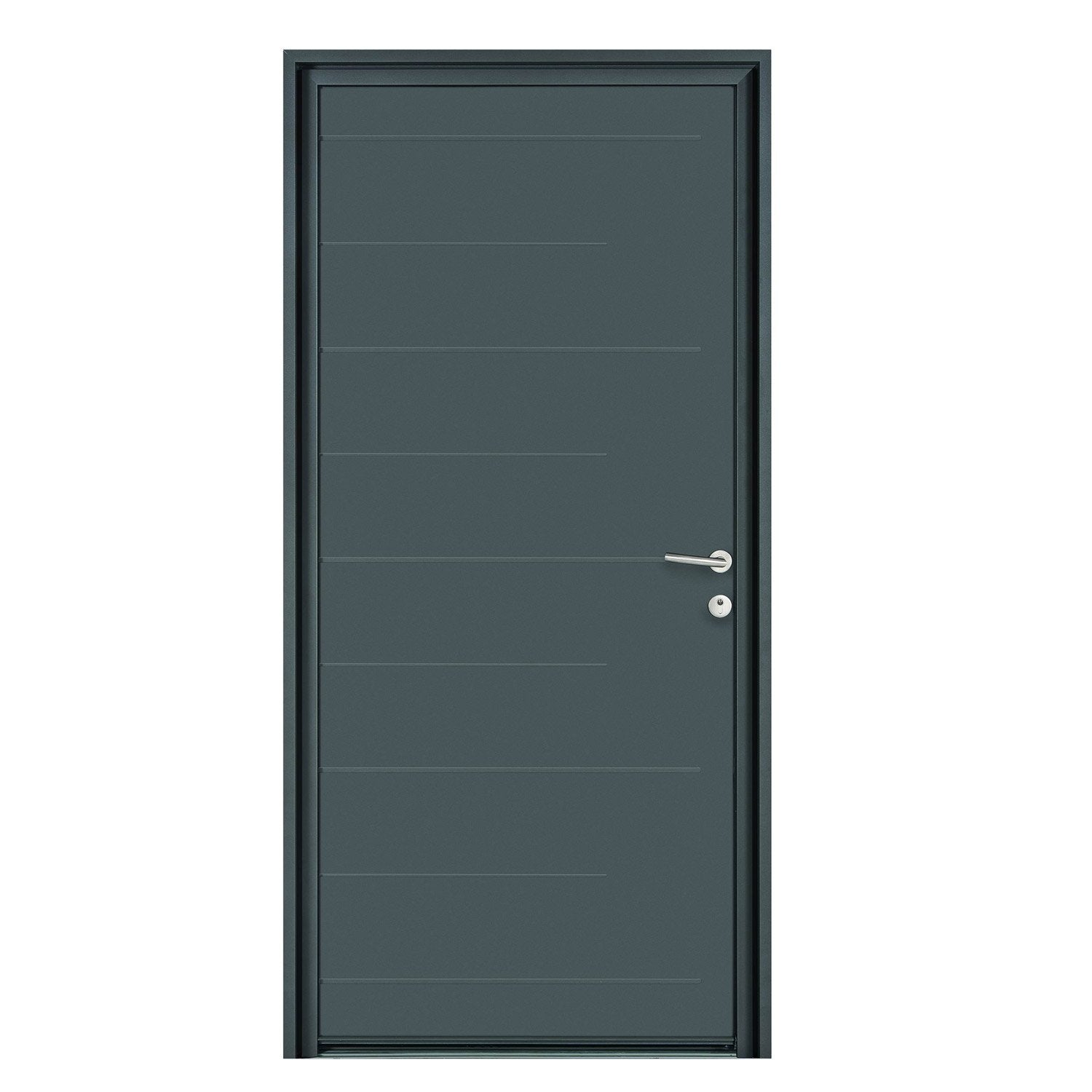 porte d 39 entr e sur mesure en aluminium nonato excellence leroy merlin. Black Bedroom Furniture Sets. Home Design Ideas