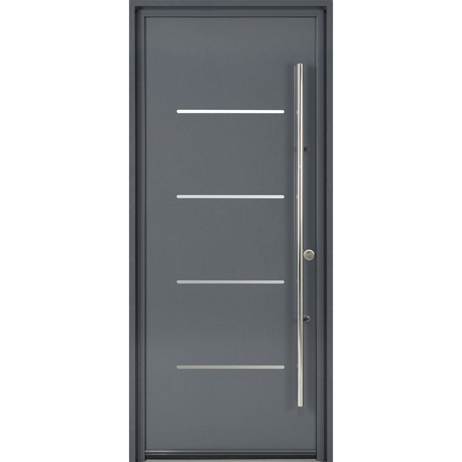 porte d 39 entr e sur mesure en aluminium strate excellence leroy merlin. Black Bedroom Furniture Sets. Home Design Ideas