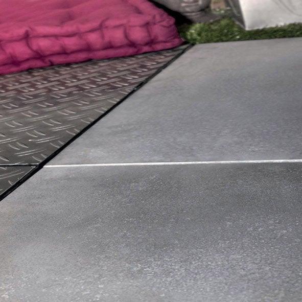 dalle clipsable béton snap&go, gris clair, l.30 x l.30 cm x ep.30