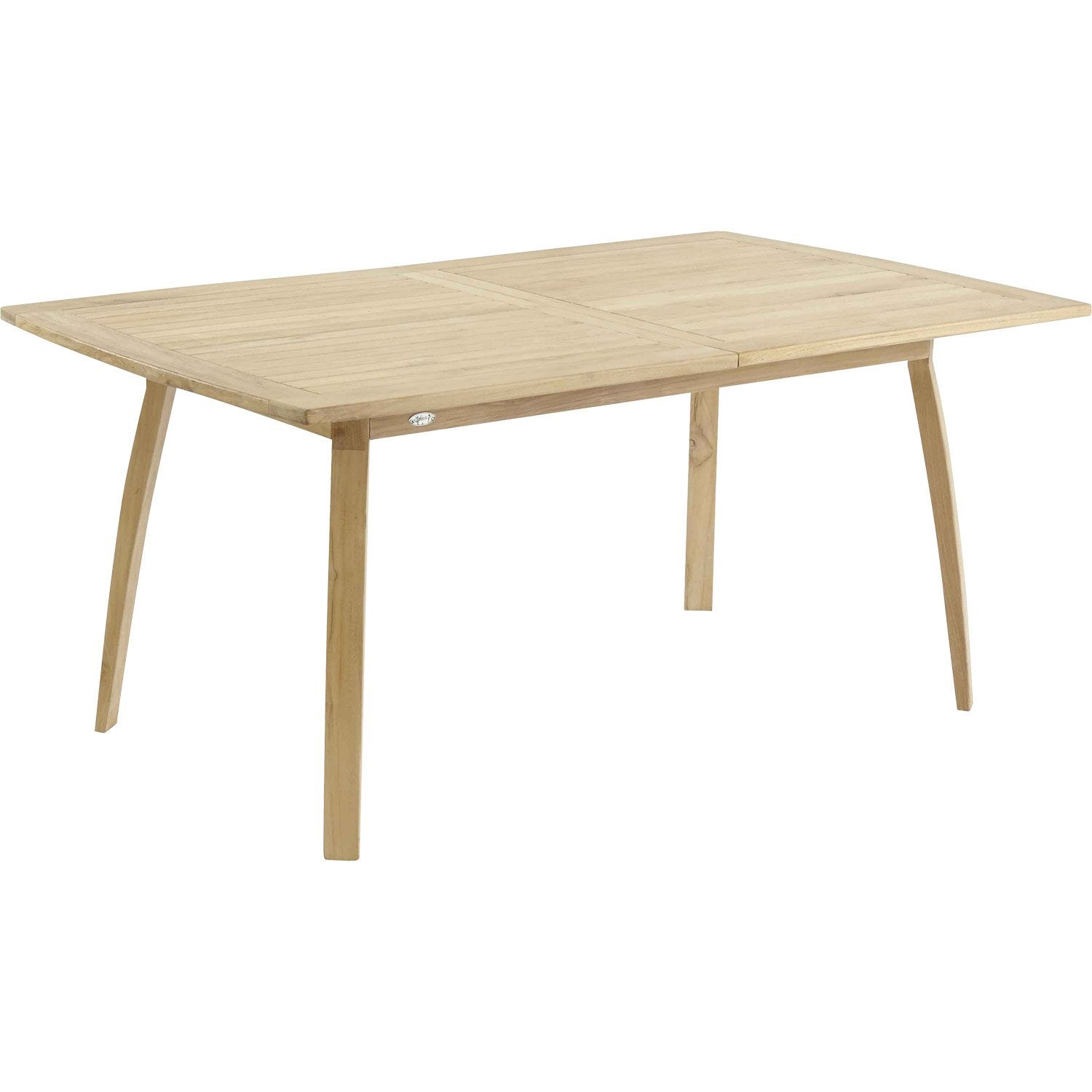 Table de jardin grade ovale naturelle 10 personnes leroy for Table exterieur 10 personnes
