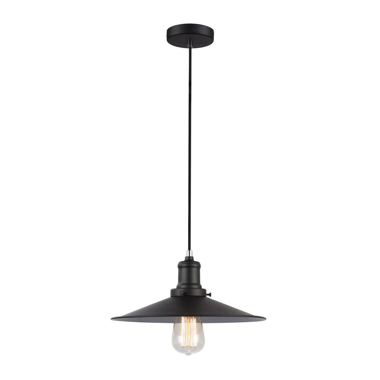 suspension nature memphis m tal noir 1 x 40 w lussiol. Black Bedroom Furniture Sets. Home Design Ideas