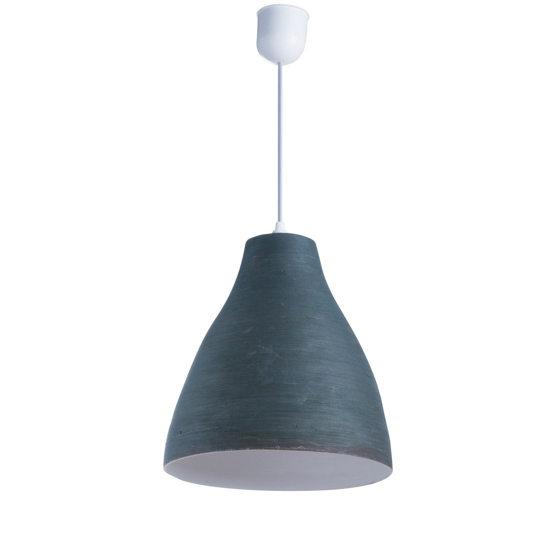 suspension nature calcuta bambou bleu ardoise 1 x 60 w. Black Bedroom Furniture Sets. Home Design Ideas