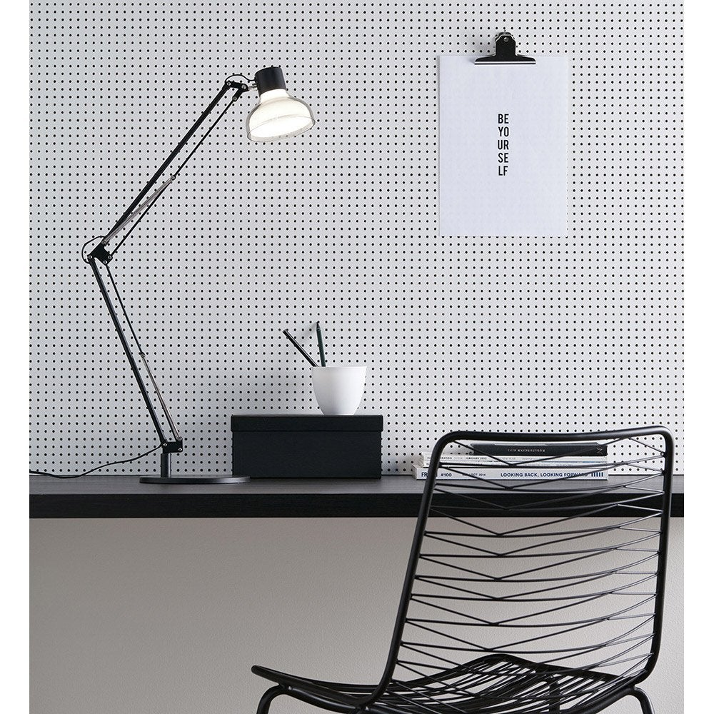 lampe de bureau poser noir jock markslojd leroy merlin. Black Bedroom Furniture Sets. Home Design Ideas