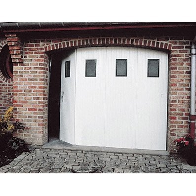 Porte de garage coulissante manuelle primo x for Castorama porte garage sectionnelle