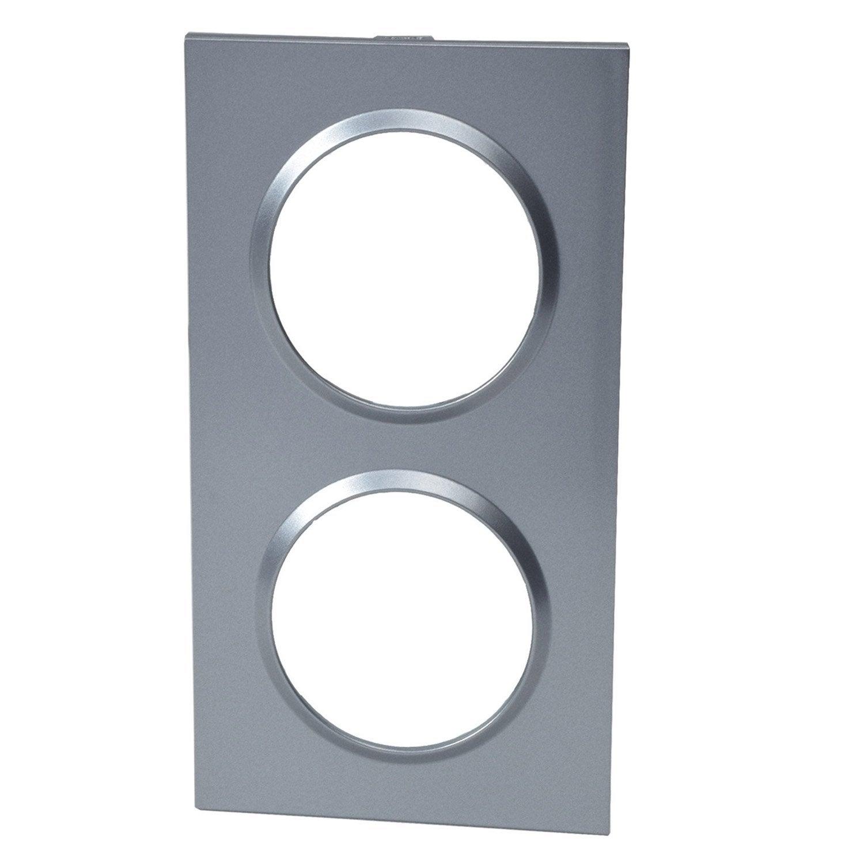 plaque epure lexman aluminium satin leroy merlin. Black Bedroom Furniture Sets. Home Design Ideas