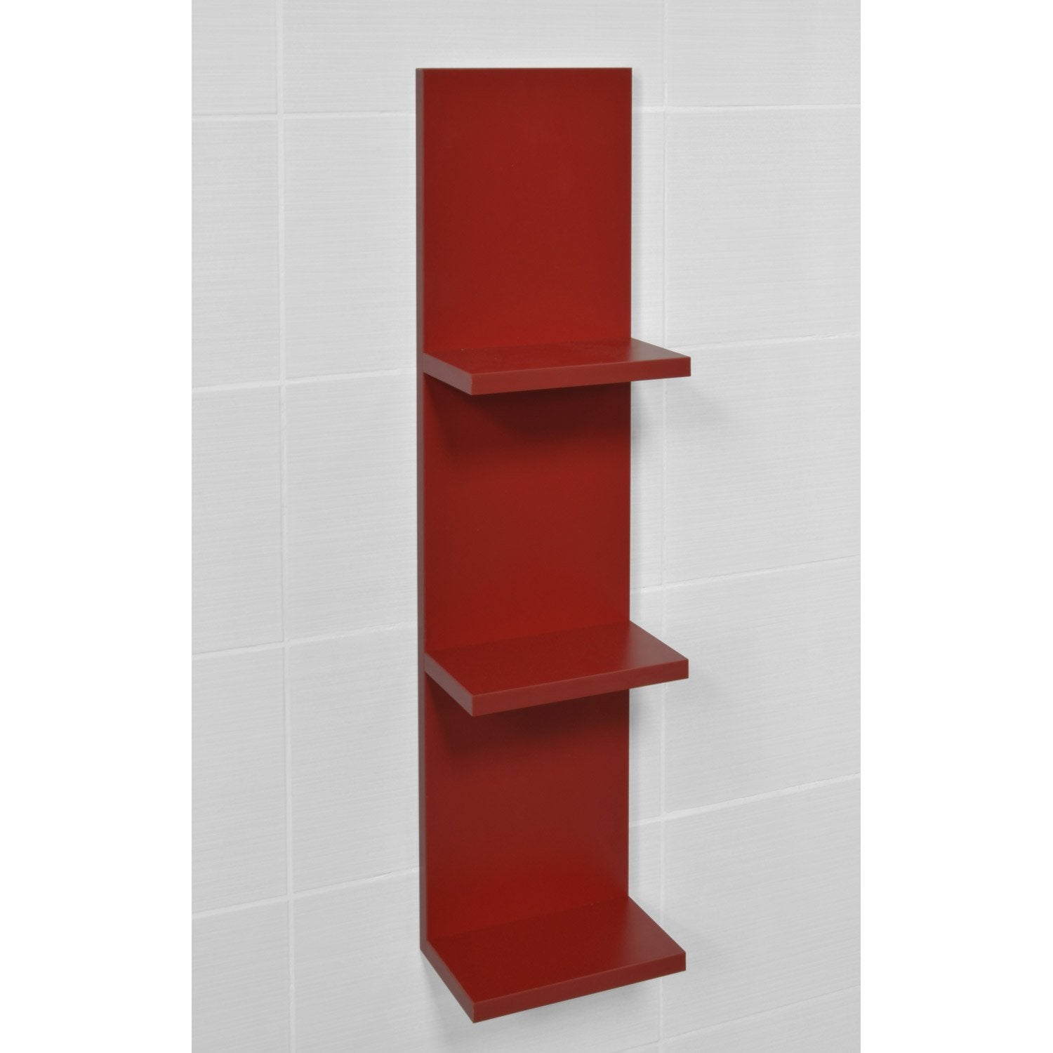 Etag re de wc coin d 39 o rouge rouge n 3 leroy merlin - Tablette murale rouge ...