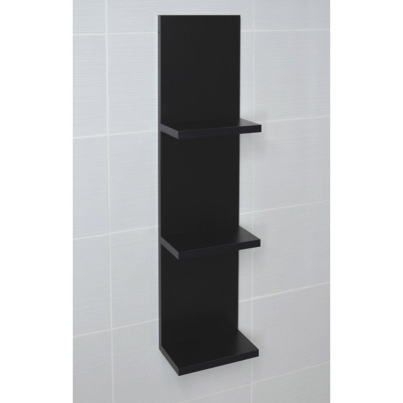 Etag re de wc x x cm noir coin d 39 o for Meuble bibliotheque profondeur 20 cm