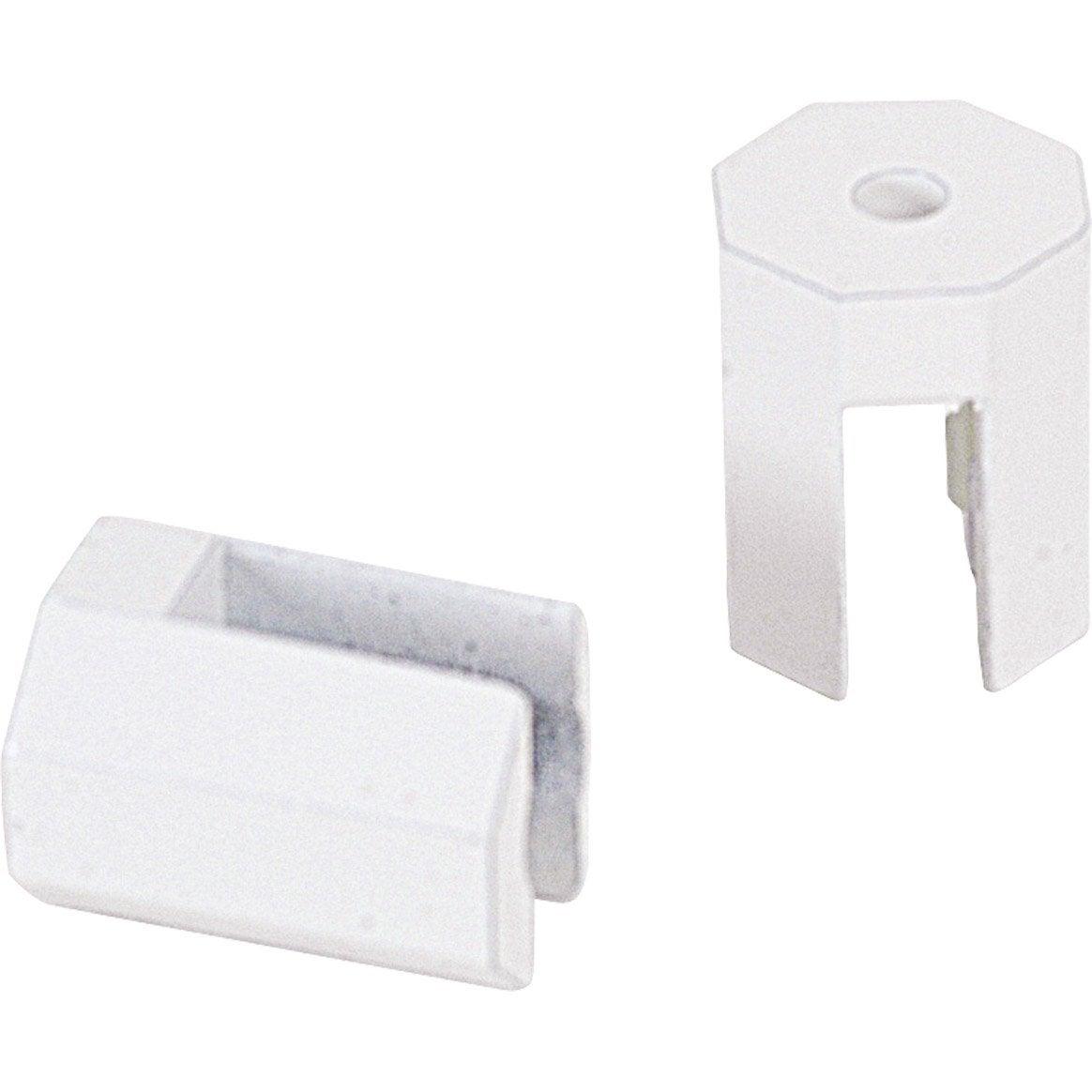 lot de 2 supports tablette octogonaux blanc laqu leroy. Black Bedroom Furniture Sets. Home Design Ideas