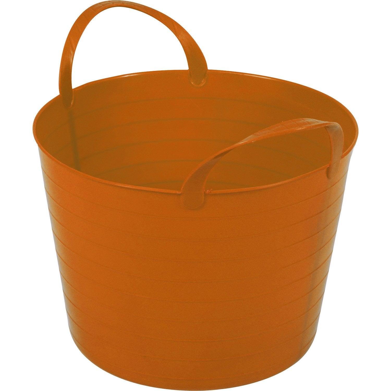 seau orange souple 27l leroy merlin. Black Bedroom Furniture Sets. Home Design Ideas