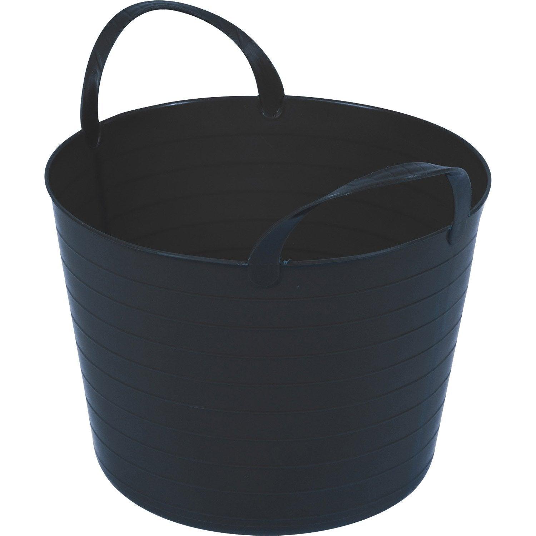 seau noir souple 40l leroy merlin. Black Bedroom Furniture Sets. Home Design Ideas