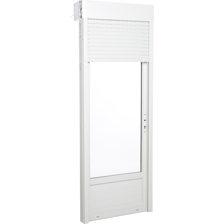Porte fen tre pvc avec volet roulant primo x for Porte fenetre vitree pvc