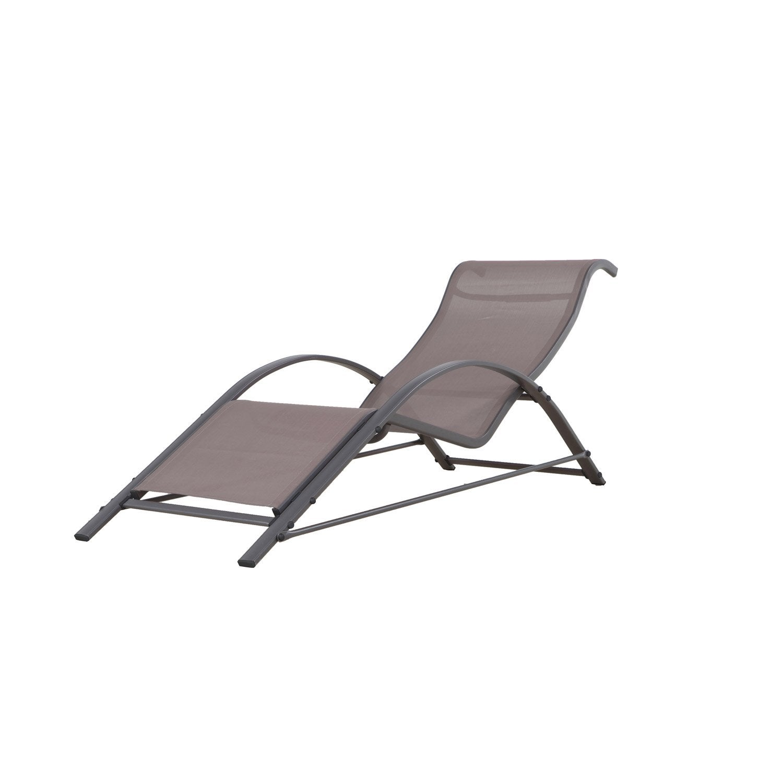 bain de soleil de jardin en aluminium taupe leroy merlin. Black Bedroom Furniture Sets. Home Design Ideas