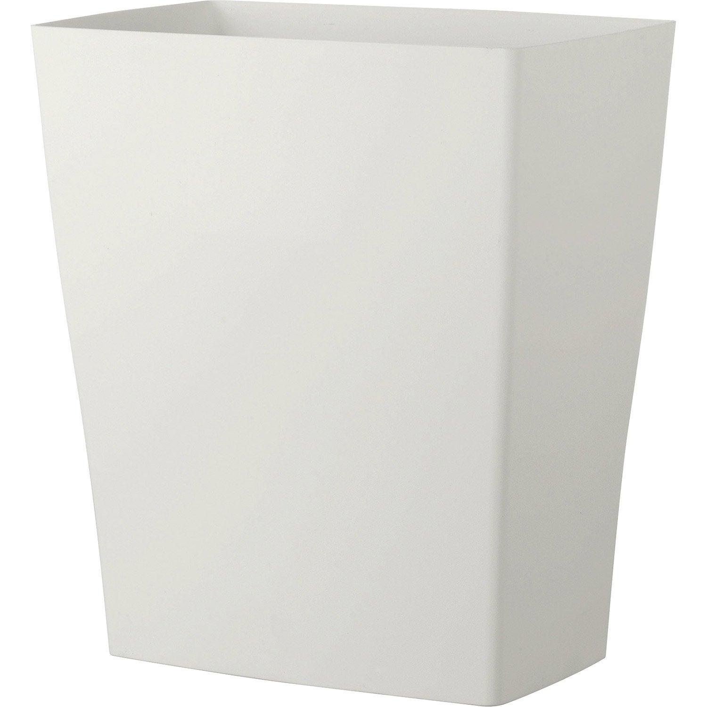 Bac en plastique deroma diam 59 x h 65 cm coloris blanc for Bac a plante leroy merlin