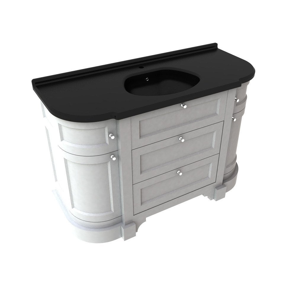 meuble vasque x x cm blanc sensea charleston leroy merlin. Black Bedroom Furniture Sets. Home Design Ideas