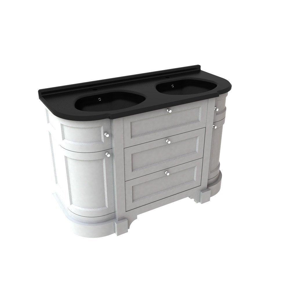 meuble sous vasque x x cm bleu sensea. Black Bedroom Furniture Sets. Home Design Ideas
