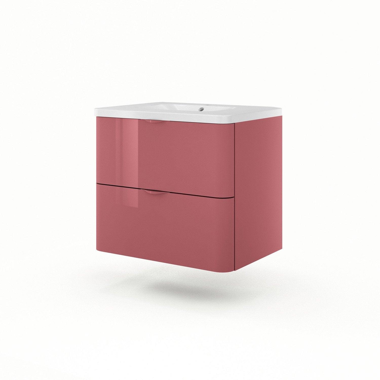 meuble vasque 75 cm rouge neo shine leroy merlin. Black Bedroom Furniture Sets. Home Design Ideas