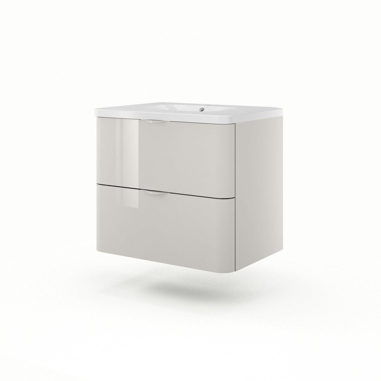 meuble sous vasque x x cm taupe sensea neo shine leroy merlin. Black Bedroom Furniture Sets. Home Design Ideas
