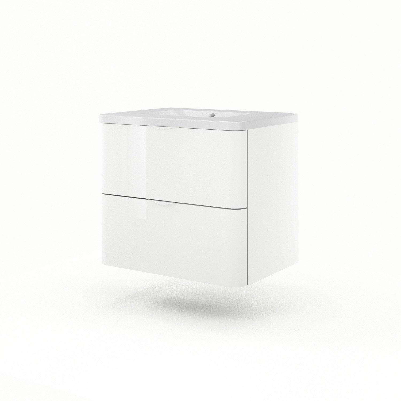 Meuble sous vasque x x cm blanc sensea - Meuble sous vasque 75 cm ...