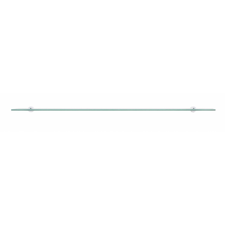 Tablette 70x12 cm rectangulaire verre simple leroy merlin - Tablette verre leroy merlin ...