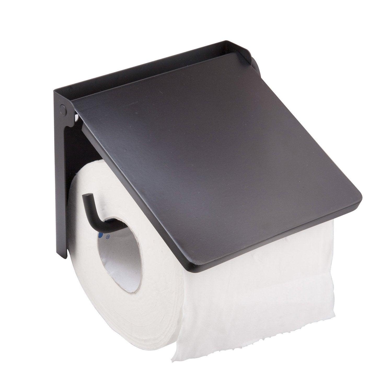 d rouleur papier wc lyrica sensea noir noir n 0 leroy merlin. Black Bedroom Furniture Sets. Home Design Ideas