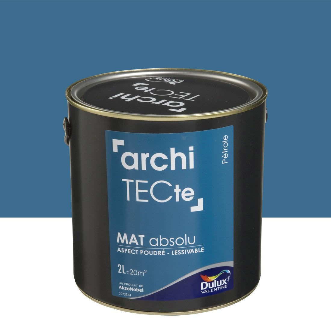 peinture bleu p trole dulux valentine architecte 2 l leroy merlin. Black Bedroom Furniture Sets. Home Design Ideas