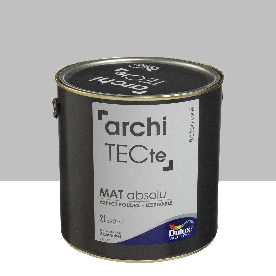 Peinture boiserie architecte dulux valentine gris b ton cir 2 l leroy merlin for Peinture beton cire