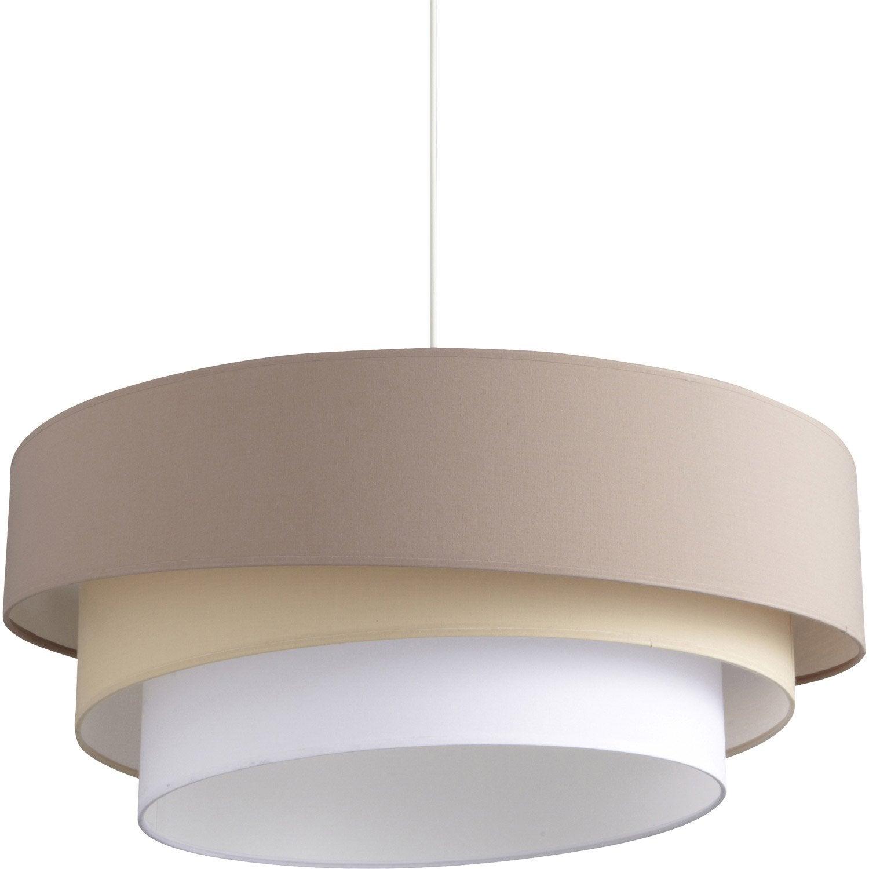 Suspension e27 design ionos coton brun taupe n 3 1 x 60 w inspire leroy merlin - Lustre design leroy merlin ...