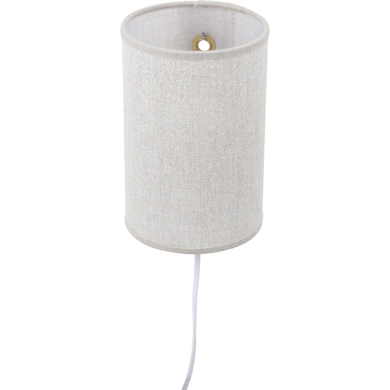 applique nomad 1 x 40 w coton beige corep leroy merlin. Black Bedroom Furniture Sets. Home Design Ideas