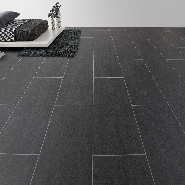sol vinyle aerotex b ton melbourne noir 4 m leroy merlin. Black Bedroom Furniture Sets. Home Design Ideas