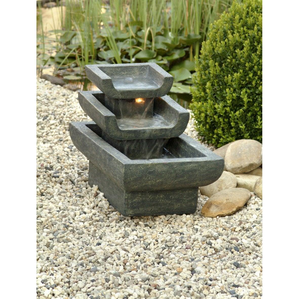 kit fontaine ubbink tokyo 3 bacs cascade pompe leroy merlin. Black Bedroom Furniture Sets. Home Design Ideas