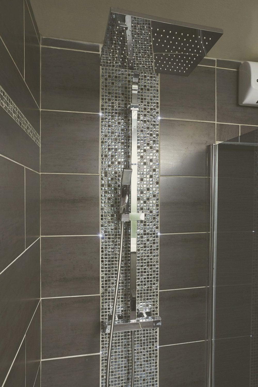 Diaporama vos r alisations de douche l 39 italienne - Douche italienne noir et blanc ...