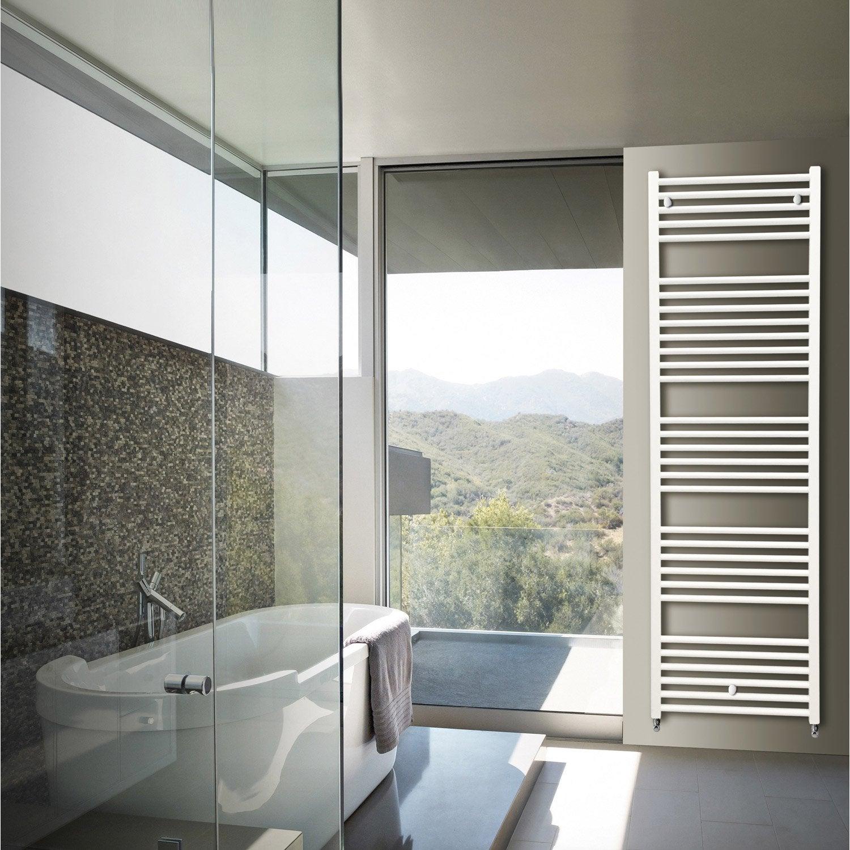 S che serviettes eau chaude aluminium hox krom blanc 816 w leroy merlin - Seche serviettes eau chaude ...