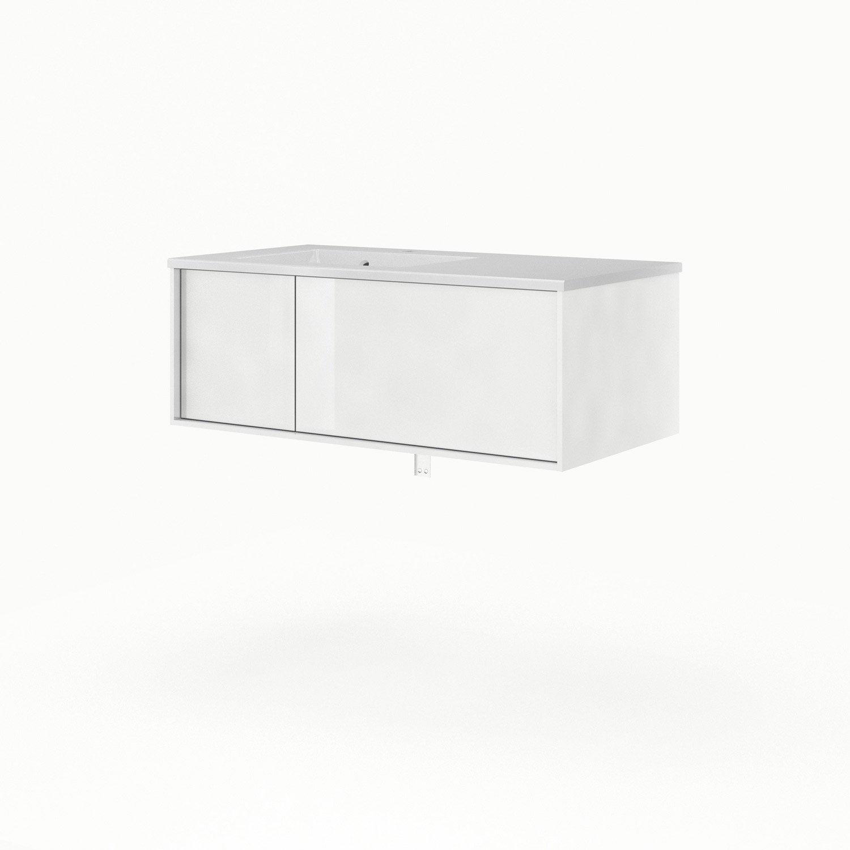 Meuble sous vasque x x cm blanc sensea for Meuble sous vasque 90 cm