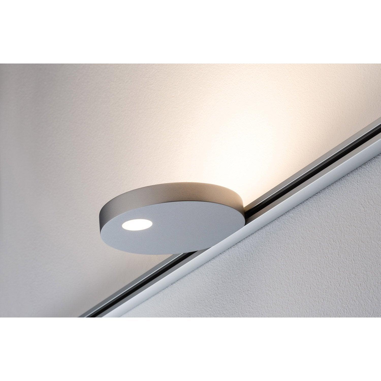 spots et suspensions pour rail led uplight salto m tal chrome mat 1 paulmann leroy merlin. Black Bedroom Furniture Sets. Home Design Ideas