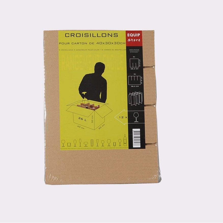 croisillons 12 24 verres pour carton de 36l leroy merlin. Black Bedroom Furniture Sets. Home Design Ideas