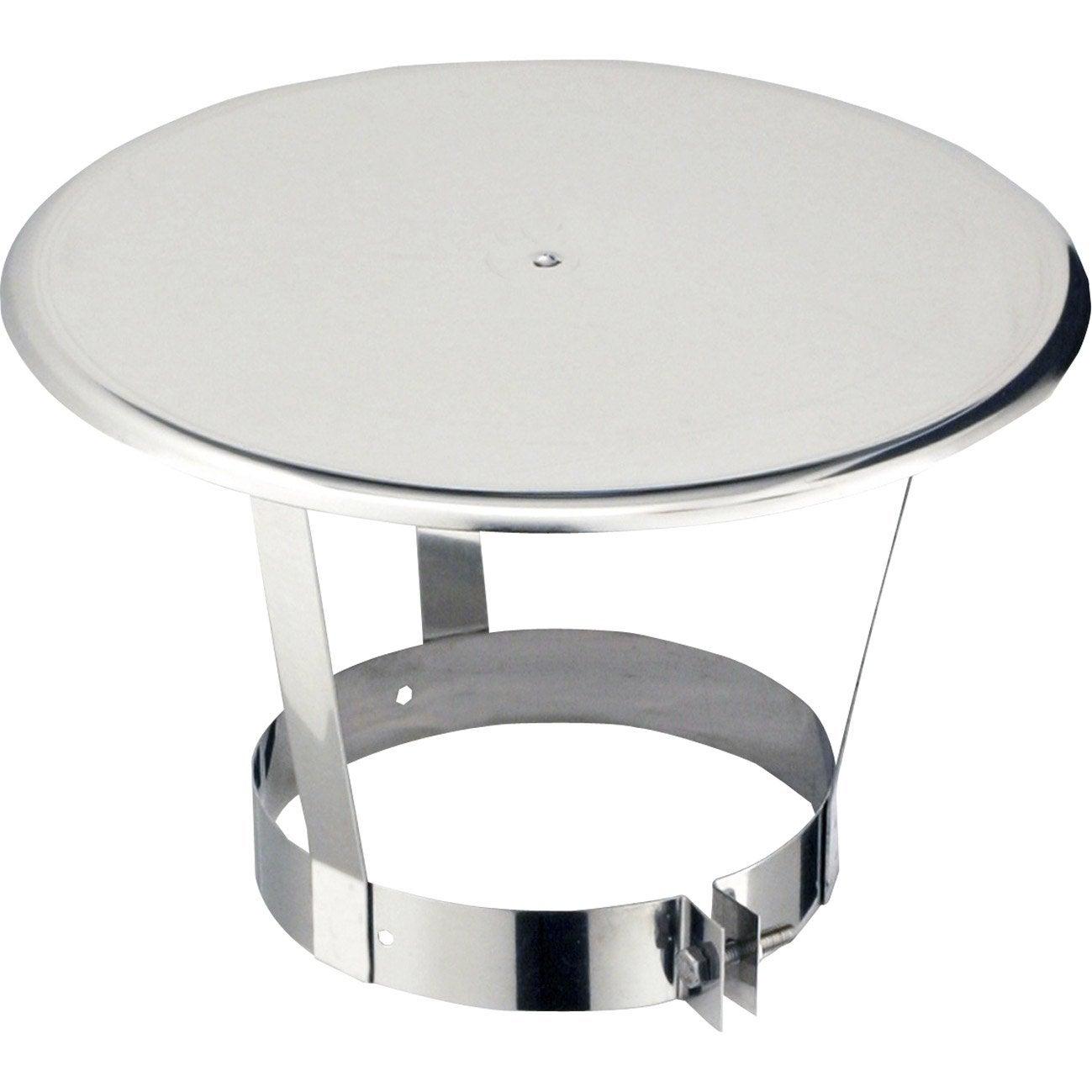 chapeau pare pluie simple poujoulat 200 mm leroy merlin. Black Bedroom Furniture Sets. Home Design Ideas