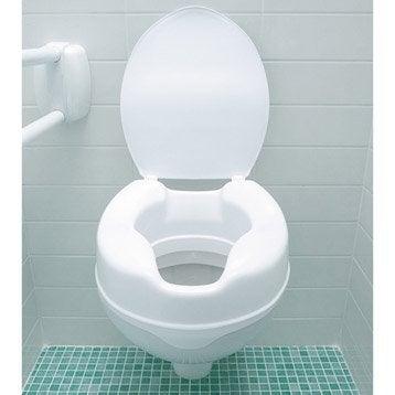 rehausse wc avec couvercle 39 cm leroy merlin. Black Bedroom Furniture Sets. Home Design Ideas